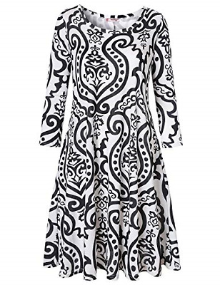 828b97c8148 TANST ZULILY DRESSES for Women Lady Crew Neck A Line Elasticity Tshirt Dress  Fit -  37.74