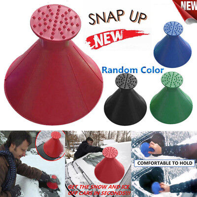 UK Magic Car Windshield Ice Scraper Tool Cone Shaped Round Funnel Remover Snow^