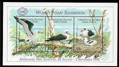 CHRISTMAS Is, 1990 BOOBY MINISHEET O/P NZ1990 MNH