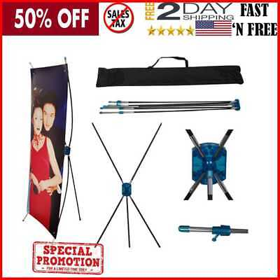 24 X 63 Inches Tripod X Banner Stand for Trade Show/Store Display by Tektrum