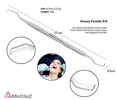 Dental Gracey Curette Area Specific Periodontal Curettes Scaling, Overlapping Ce