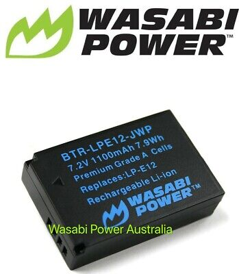 Wasabi Battery for Canon LP-E12 and Canon EOS M,M10,M50,M100,100D,EOS Rebel SL1