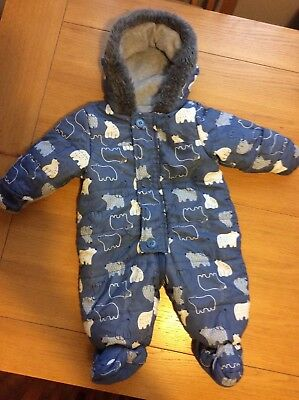 Babt Boys Snowsuit. 3-6 Months. New.