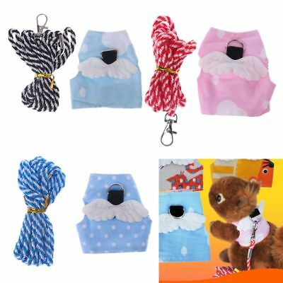 Small Pet Harness Leash Forret Hamster Guinea Pig Wings Vest Clothes