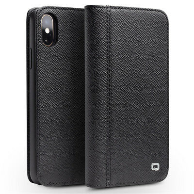 QIALINO 2-in-1 Smart Wake/Sleep Genuine Leather Stand Case for iPhone XS Max 6.5