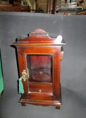 Mahogany  Tobacco Cabinet with storage and brass hinges