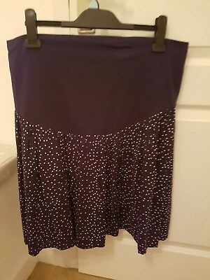Brand new with tags JoJo Maman Bebe maternity skirt blue and white spots size s.