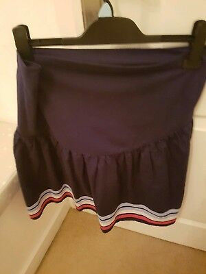 Jojo Maman Bebe Maternity Skirt, blue white and red Striped. Size small.