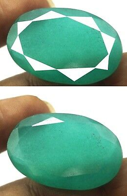 GGL Certified 59.90 Ct Natural Oval Cut Green Emerald Gemstone Hurry Now