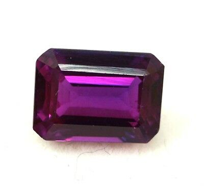 GGL Certified 7.95 Ct Natural Pink Tourmaline Emerald Cut Paraiba Mozambique Gem
