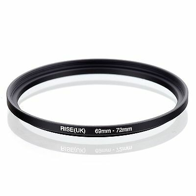 Camera 69mm Lens to 72mm Accessory Step Up Adapter Ring 69mm-72mm Black