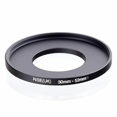 Camera 30mm Lens to 52mm Accessory Step Up Adapter Ring 30mm-52mm Black