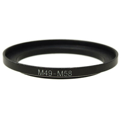Camera 49mm Lens to 58mm Accessory Step Up Adapter Ring 49mm-58mm