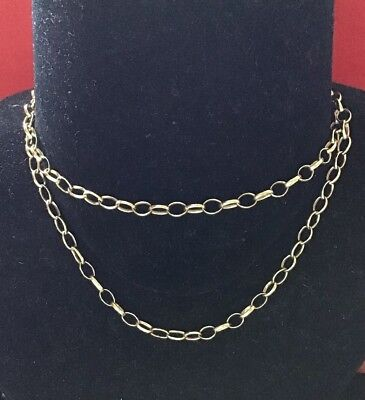 """*New* Solid 9ct Red//Rose Gold 18 /"""" Belcher Chain Necklace 0.74gm in Box"""