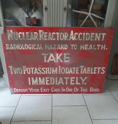 RARE Large Enamel Nuclear Reactor Vintage sign