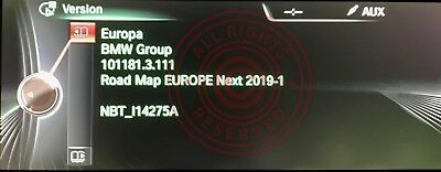 BMW 2019-1 NEXT EUROPE NBT iDRIVE SATNAV MAP FSC CODE & MAPS 356 SERIES F30 F10