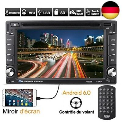 OUTAD Autoradio GPS Navigation, 6.2'' Android 6.0 2 DIN 1080P CD Tuner/DVD VC...