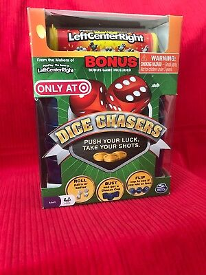 NEW 2 in1!! Dice Chasers AND Left Right Center Game Las Vegas Style! NIB-Spiners