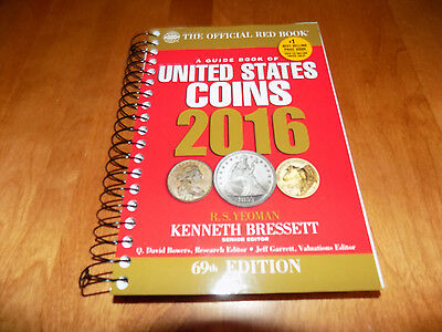 2016 RED BOOK A Guide Book of United States Coins Spiral Bound 69th Edition Coin