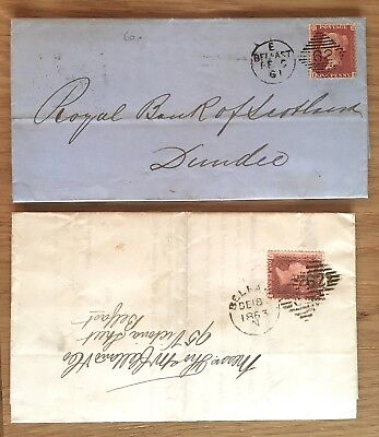 Gb Northern Ireland 1858-75 Selection Of Covers With Belfast Cancels (5)