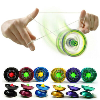 Cool Aluminum Design Professional YoYo Ball Bearing String Trick Alloy Kids BHQ