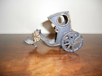 Antique Hubley horse drawn wagon carriage cast iron vintage