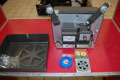 Vintage Bell & Howell 8MM Autoload Projector 456A Includes 2 Films~Free Ship