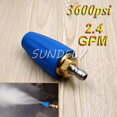"2.4 GPM Pressure Washer Rotating Turbo Nozzle 3600 PSI 1/4"" Quick Connect Blue"