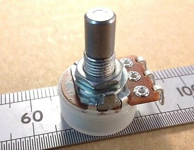 6.0mm Round Shaft Solder Lug Anti-Logarithmic Potentiometer, Antilog Pot RSL60