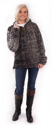 NEW Simply Southern Sherpa Pullover fleece STEEL Small S Medium M Large L XL XXL