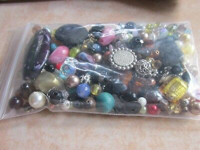 Very Nice Bag 4 Ozs Of Loose Beads For Jewelry Making, Crafts, Repairs  B3