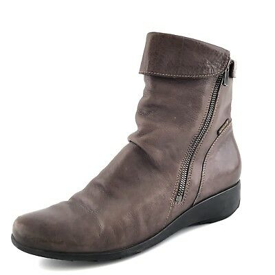 69b5b928b60 Mephisto Seddy Brown Leather Wedge Ankle Boots Women's Size 8 M $400*
