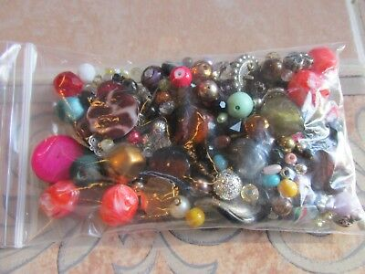 Very Nice Bag 4 Ozs Of Loose Beads For Jewelry Making, Crafts, Repairs  B20