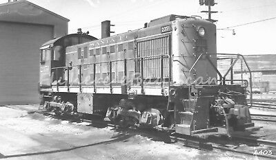 Original B&W negative AT & SF Railroad diesel locomotive #2351 San Francisco '72