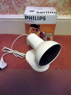 Philips infrared massage lamp. 150w pain relief, boxed. Made in Germany.