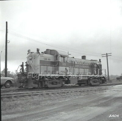 Original B&W negative Erie-Lackawanna Railroad diesel loco #905 Huntington, IN