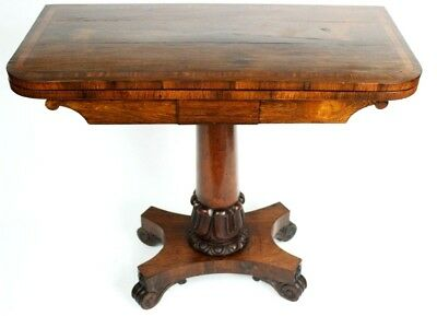 Antique William IV Rosewood Card Table - FREE Shipping [4757]