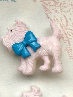 Vintage Scottie Dogs Buttons On Card