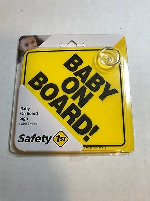 NEW - Safety 1st Baby On Board Sign