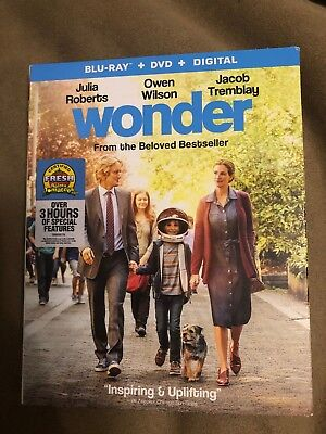 Wonder (Blu-ray/DVD, 2-Disc Set, 2018, Includes Digital Copy) NEW