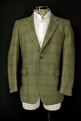 "44"" Regular Dunn & Co West of England Jacket Tweed Blazer Green Check"