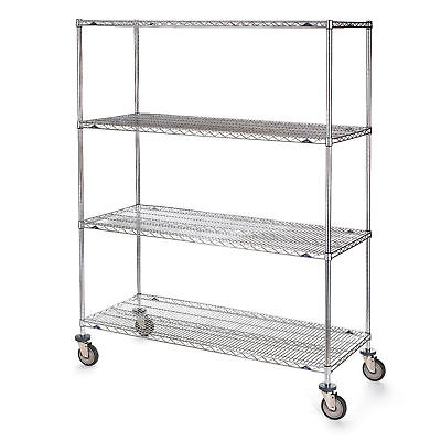 "Metro Stainless Steel Wire Trucks, 36""W x 18""D x 68""H, Lot of 1"