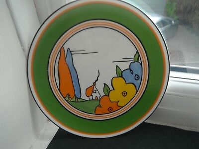 "CLARICE CLIFF ""POPLAR"" PLATE - by WEDGWOOD"