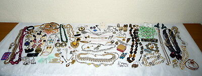 Large Job Lot Vintage Costume Jewellery - Some Silver Bits