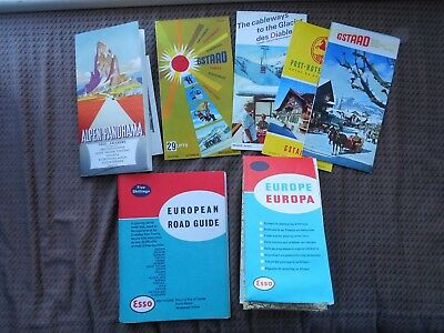 Vintage 1960's Esso European Road Guide and Map