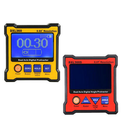 DXL360+DXL360S Set:Dual Axis Digital Protractor Inclinometer 2Axis Level Box
