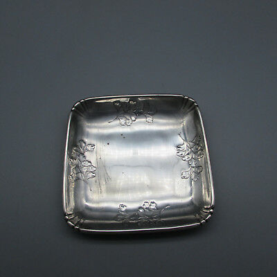 "Wallace Sterling Silver ""Leaves"" Square Tray"