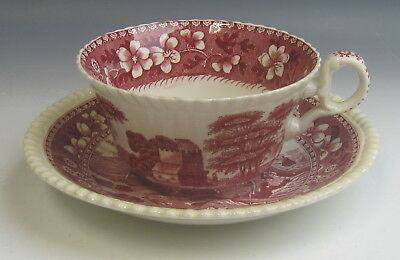 Spode China TOWER PINK (OLD MARK) Oversized Cup & Saucer Set(s) EXCELLENT