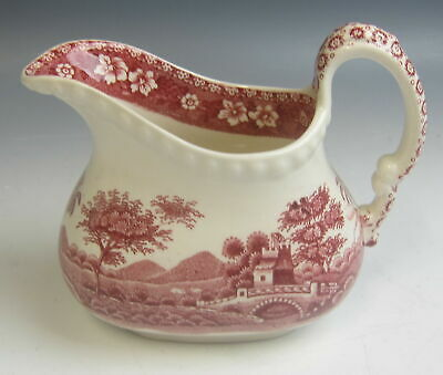 Spode China TOWER PINK (OLD MARK) 10oz Rectangular Base Creamer Excellent