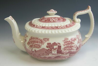 Spode China TOWER PINK (OLD MARK) 5 cup Tea Pot w/ Lid EXCELLENT